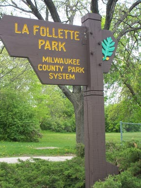 LaFollette Park Sign